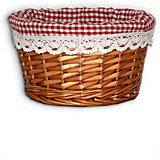 """Короб для хранения """"Красная клетка"""", из плетеных ивовых прутьев, Феникс-Презент"""