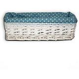 """Короб для хранения """"Голубой горошек"""", из плетеных ивовых прутьев, Феникс-Презент"""