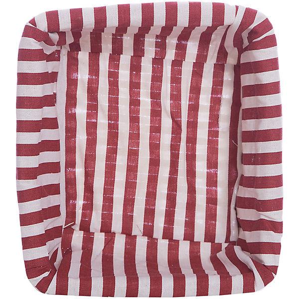 """Короб для хранения """"Красная полоска"""", из плетеных ивовых прутьев, Феникс-Презент"""