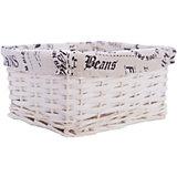 """Короб для хранения """"Газетное ретро"""", из плетеных ивовых прутьев, Феникс-Презент"""