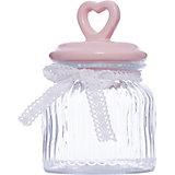 """Стеклянная ёмкость для продуктов """"Розовое сердце"""", объем 600 мл., Феникс-Презент"""