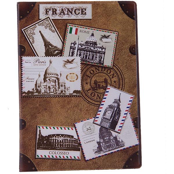 """Обложка для паспорта """"Почтовые марки мира"""", Феникс-Презент"""