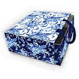 "Коробка подарочная ""Голубые цветы"", 16х16х8см., Феникс-Презент"