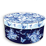"Коробка подарочная ""Голубые цветы"", 14х14х7см., Феникс-Презент"