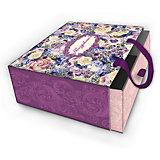 """Коробка подарочная """"Лиловые букеты"""", 16х16х8см., Феникс-Презент"""