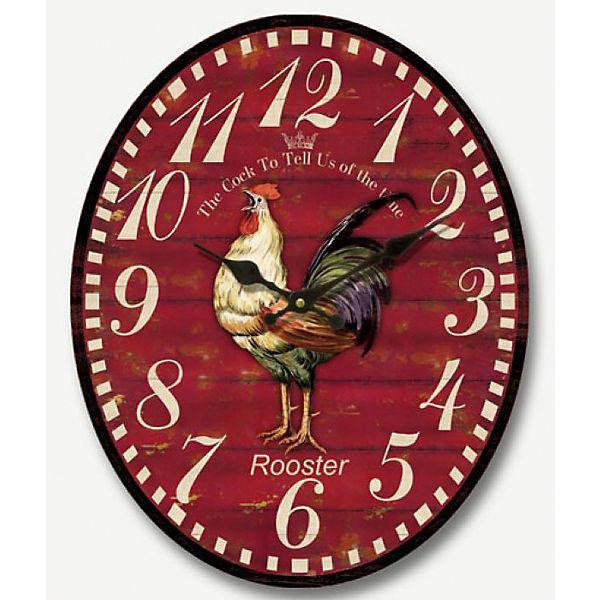 """Часы настенные """"Петух"""" кварцевые, с циферблатом, Феникс-Презент"""