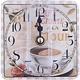 """Часы настольные """"Чашка кофе""""  кварцевые, с циферблатом, Феникс-Презент"""