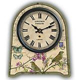 """Часы настольные """"Бабочки и птички"""" кварцевые, с циферблатом, Феникс-Презент"""
