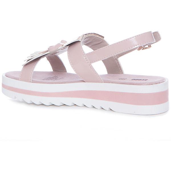 Босоножки для девочки KEDDO, розовый, лак