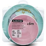"""Набор посуды от 6 мес. тарелка+миска """"Fox"""", Suavinex, розовый/белый"""