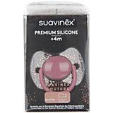 """Пустышка силиконовая """"Haute Couture"""", от 4 мес, Suavinex, розовый пуантилизм"""