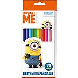 Цветные карандаши, 24 цвета,  Гадкий Я