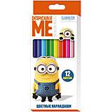 Цветные карандаши, 12 цветов, Гадкий Я