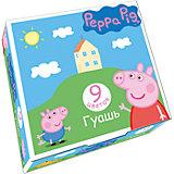 "Гуашь ""Свинка Пеппа"", 9 цветов, Peppa Pig"