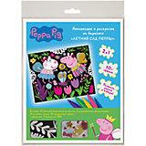 "Аппликация и раскраска на бархате ""Летний сад Пеппы"" Peppa Pig"