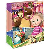 """Пакет подарочный"""" Маша и Миша"""" 230*180*100, Маша и Медведь"""