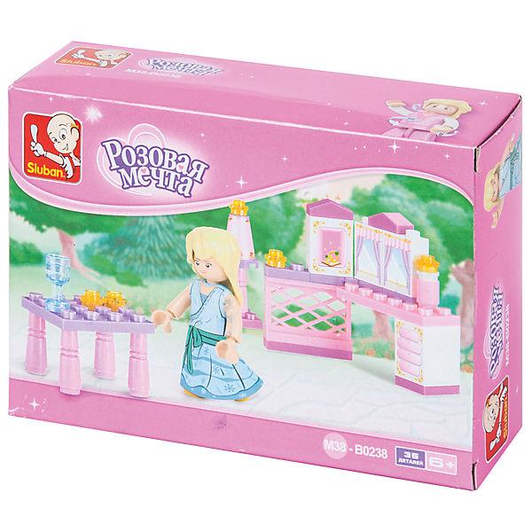 """Конструктор """"Розовая мечта: Завтрак принцессы"""", 35 деталей, Sluban"""