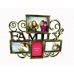 Фоторамка семейная Platinum пластик, античное золото, Яркий праздник