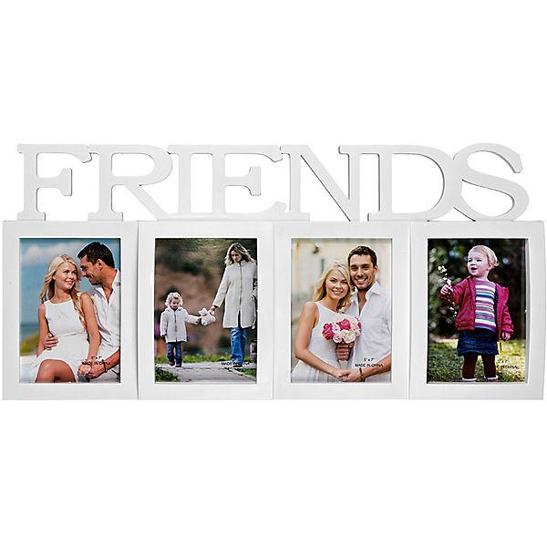 "Фоторамка Platinum ""Friends"", пластик, белая, Яркий праздник"