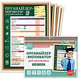 Органайзер-мотиватор для школьника, набор из 4 плакатов, Cute'n Clever