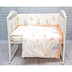 Комплект постельного белья элит Зайка Baby Nice, бежевый