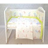 Детское постельное белье 3 предмета Baby Nice, Зайка, салатовый