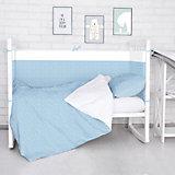 Борт в кроватку Луны, звездочки Baby Nice, голубой