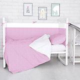 Борт в кроватку Луны, звездочки Baby Nice, розовый