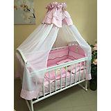 """Комплект в кроватку """"Мишка"""", розовый"""