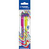 Набор шариковых  ручек Expert Complete Neon Drive, син.чернила, цвет розовый+зеленый