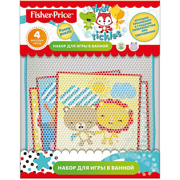 """Набор для игры в ванне """"Funny puzzle"""", 4 пазла, Fisher Price"""