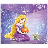 """Пластиковая папка-конверт на кнопке для тетрадей """"Принцессы"""", Disney"""