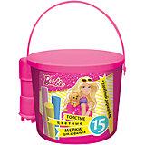 Мелки для асфальта с держателем, Barbie