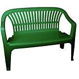 "Скамейка со спинкой ""Престиж"" 115х60х81, Alternativa, тёмно-зеленый"