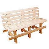Скамейка со спинкой 120х40х70, Alternativa, бежевый