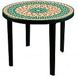 """Стол """"Мозаика"""" кругл.900х900х750, Alternativa, тёмно-зеленый"""