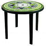 """Стол """"Флоренция"""" кругл900х900х750, Alternativa, тёмно-зеленый"""