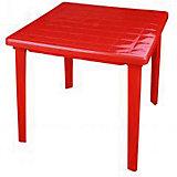 Стол квадратный 800х800х740, Alternativa, красный