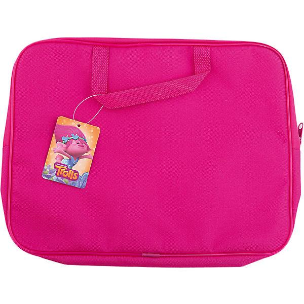 """Папка-сумка """"Тролли"""", с ручкой, формат А4, текстильная, CENTRUM"""