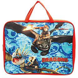 """Папка-сумка """" Драконы"""",текстиль, 35*4*26 см, c ручками, формат А4"""