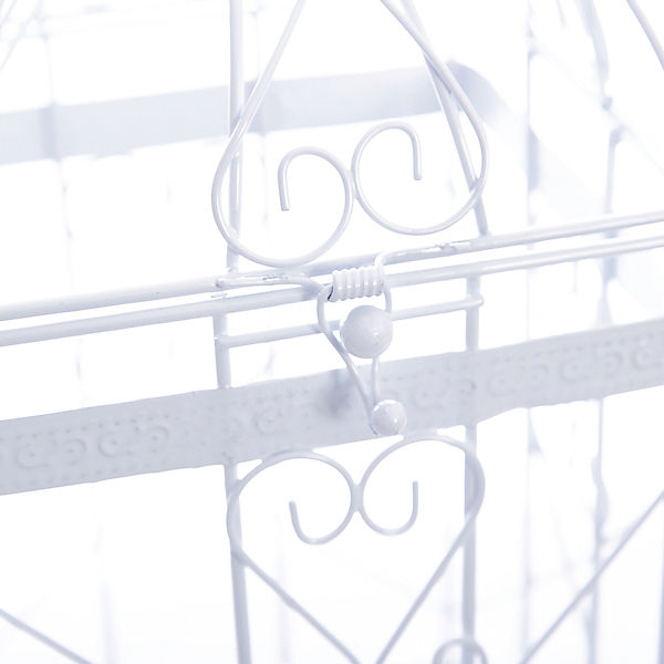 """Клетка декоративная """"Узорчатая"""" из черного окрашенного металла"""
