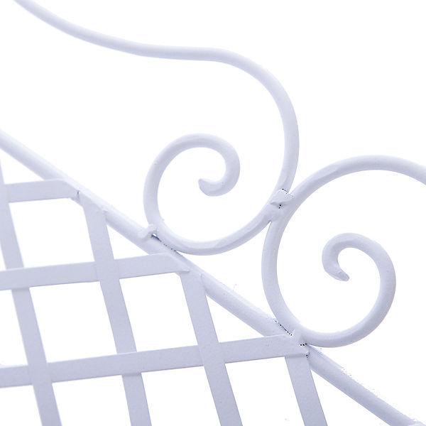 """Подставка для газет """"Белая решетчатая"""" из черного окрашенного металла, напольная"""
