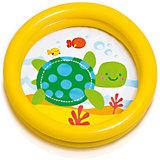 """Детский надувной бассейн """"Черепашка"""", желтый, Intex"""