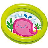 """Детский надувной бассейн """"Кит"""", зеленый, Intex"""
