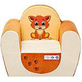 """Детское игровое кресло """"Котенок"""", бежевый-оранжевый, PAREMO"""