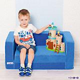 Раскладной игровой диванчик, голубой, PAREMO