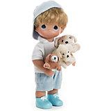 """Кукла """"Мальчик и щенки"""", 30 см, Precious Moments"""
