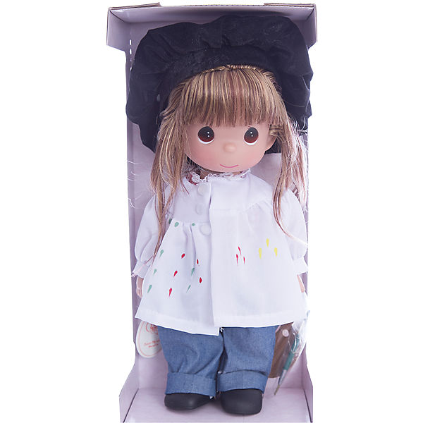 "Кукла ""Художница"", брюнетка, 30 см, Precious Moments"