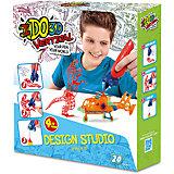 """3D ручка """"Вертикаль"""",4шт, Дикие забавы (оранж+зел+син+красн)"""