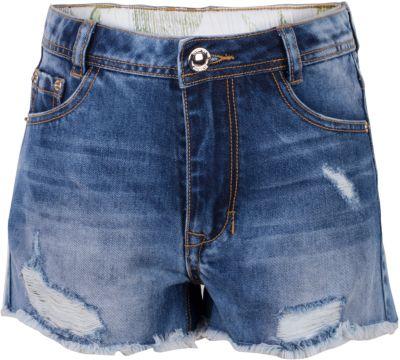 Шорты джинсовые для девочки Gulliver - голубой